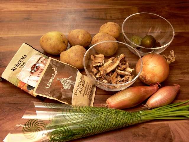 Kartupeļi ar sēnēm